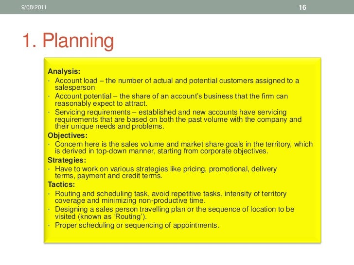 Sales Training Territory Management - Sales manager business plan template