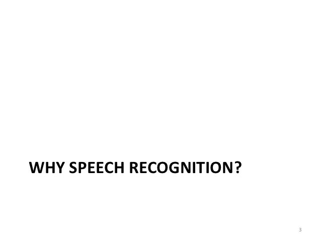 Aplikace pro rozpoznávání řeči - Jan Šedivý Slide 3