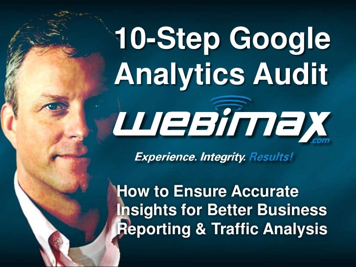 10-Step GoogleAnalytics AuditHow to Ensure AccurateInsights for Better BusinessReporting & Traffic Analysis