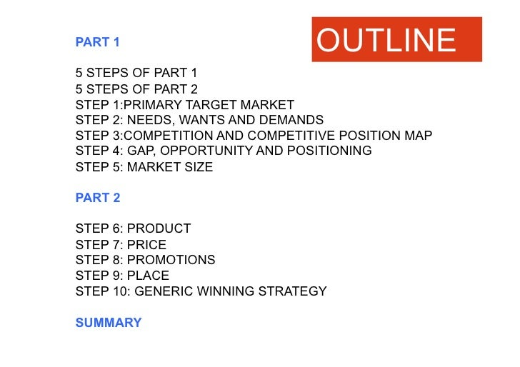Perfect 10 STEP MARKETINGPLAN FORORTHOPAEDIEFREY FAR EASTALDWINONG I 30 NOV 2010; 2.