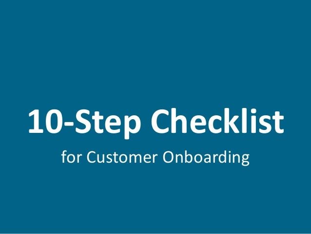 10-Step Checklist for Customer Onboarding