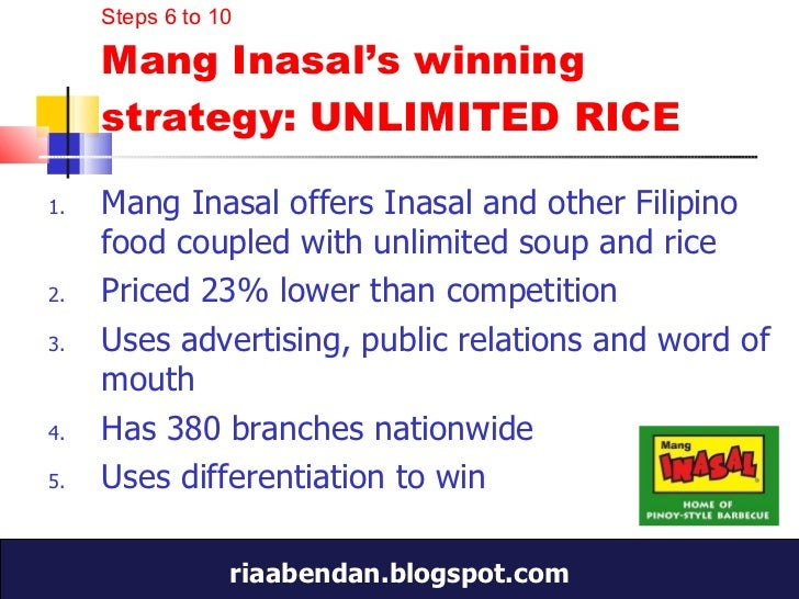mang inasal industry analysis I personally think that he's been able to shake the industry by his leadership and does mang inasal need the expertise of jfc in terms of management or.