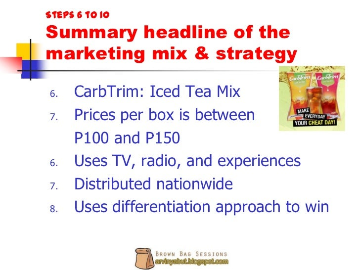 marketing plan of nestea Introduction nestle is the swiss transnational food and beverage company, which is the largest food company across the globe in terms of its revenues the.