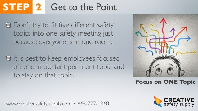 10 Steps For Successful Safety Meetings