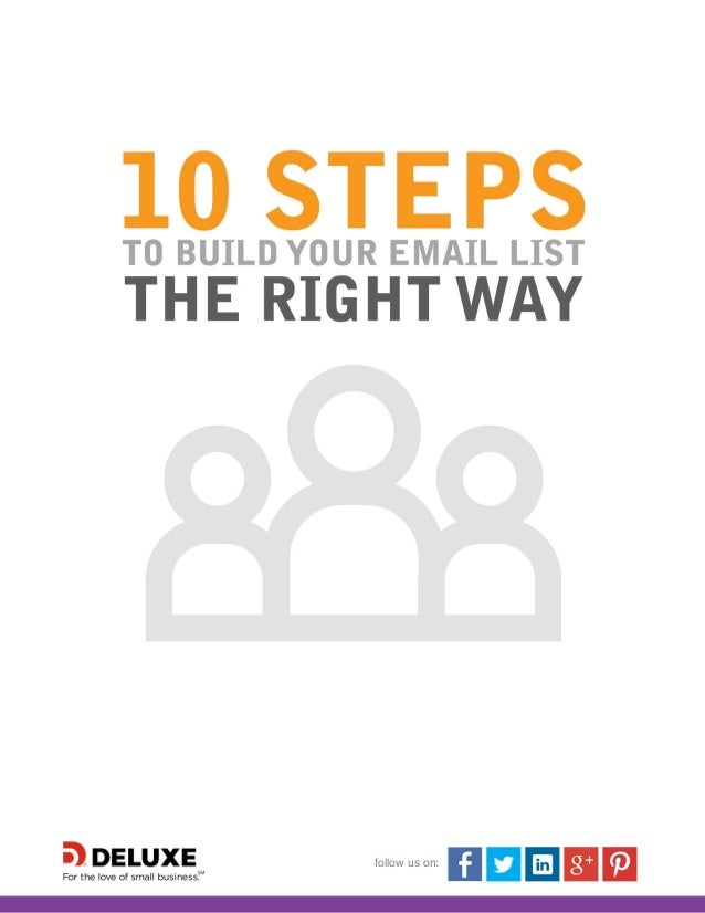 10 steps to build your email list the right way for Steps to building a house checklist