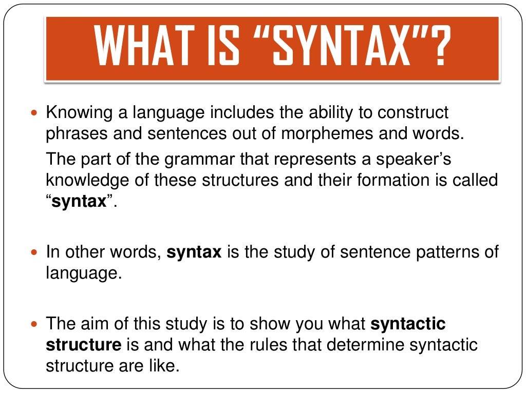 syntax in literature examples