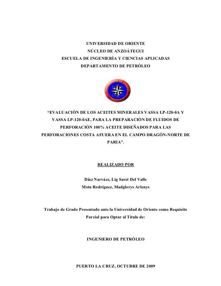 UNIVERSIDAD DE ORIENTE                      NÚCLEO DE ANZOÁTEGUI        ESCUELA DE INGENIERÍA Y CIENCIAS APLICADAS        ...