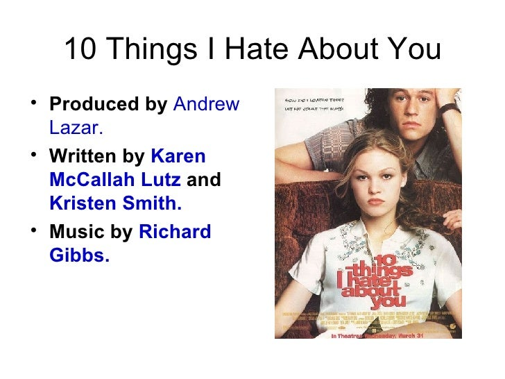 10 Things I Hate About You Joey: 10 Things I Hate About You