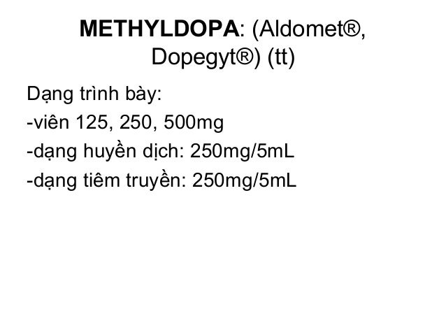 CLONIDIN (Catapres®), GUANABENZE (Wytensin®) và GUANFACIN (Tenex®) Dạng trình bày: *CLONIDIN: -viên uống: 0,1 - 0,2 - 0,3m...