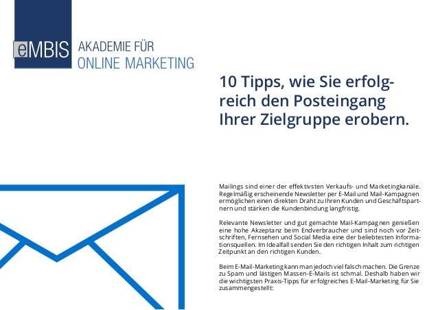 Mailings sind einer der effektivsten Verkaufs- und Marketingkanäle. Regelmäßig erscheinende Newsletter per E-Mail und Mail...
