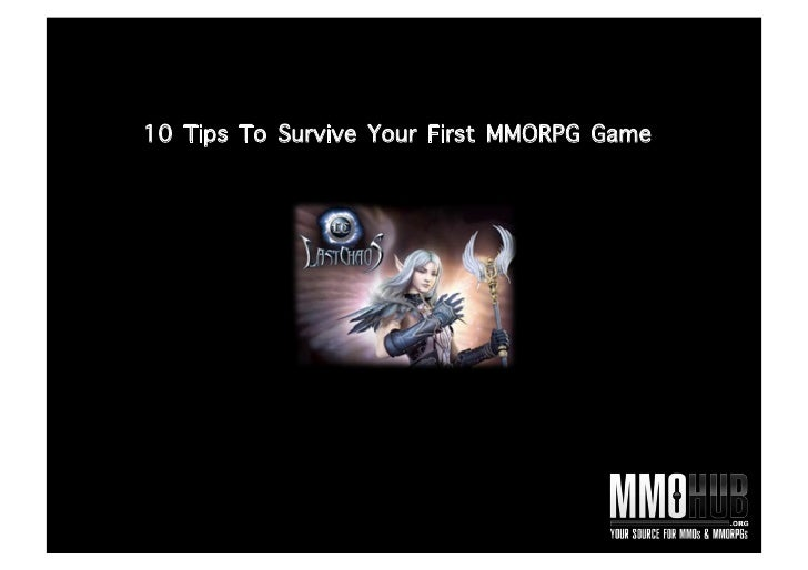 10 Tips To Survive Your First MMORPG Game