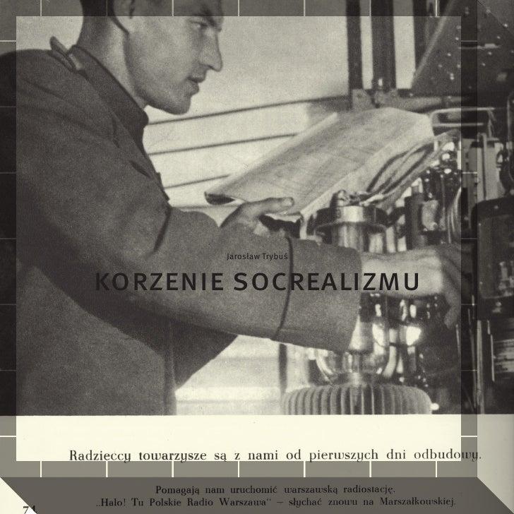 Jarosław Trybuś   korzenie socrealizmu