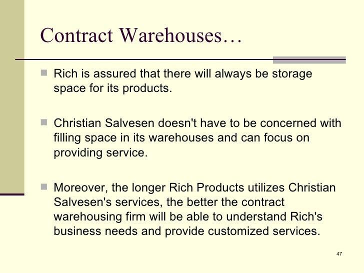 Warehousing Agreement Sample