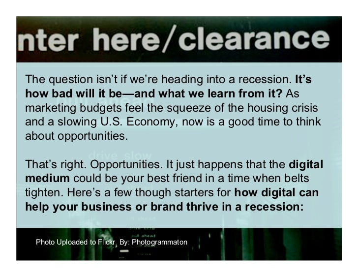10 Ways Digital Can Help You Thrive in a Recession Slide 2