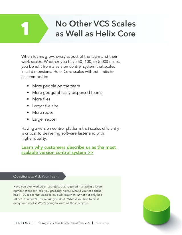 10 Ways Helix Core is Better Than Other VCS