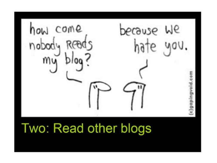 10 Ways to a Killer Blog Slide 3