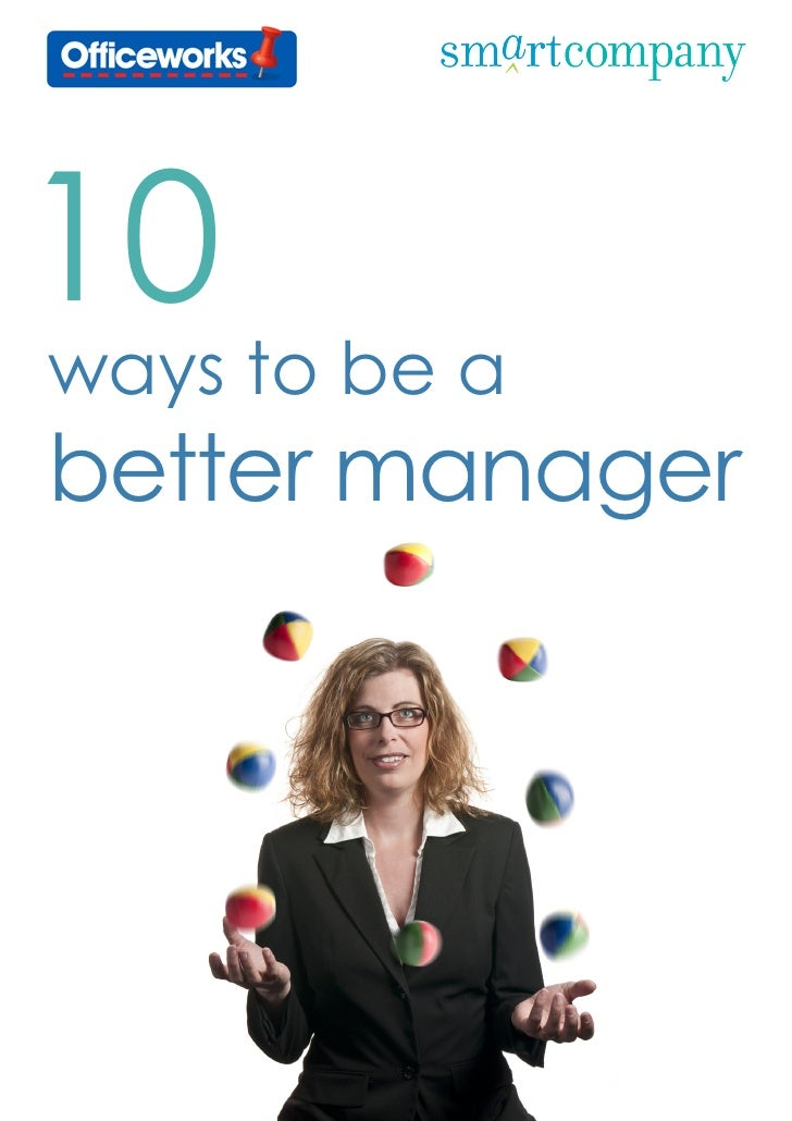 10ways to be abetter manager