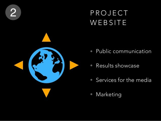 P R O J E C T W E B S I T E • Public communication • Results showcase • Services for the media • Marketing 2