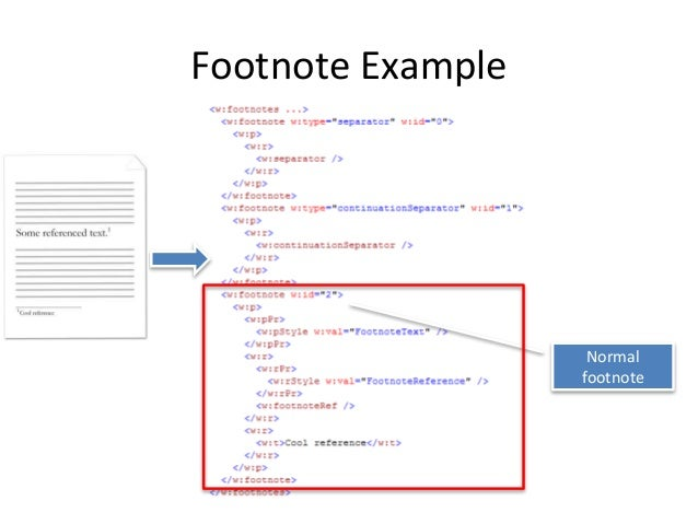 endnotes format Document endnotes the root element of endnotespart when the object is serialized out as xml, its qualified name is w:endnotes.
