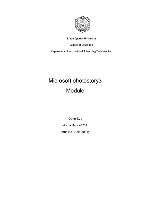 Sultan Qaboos University                College of Education Department of Instructional & Learning TechnologiesMicrosoft ...