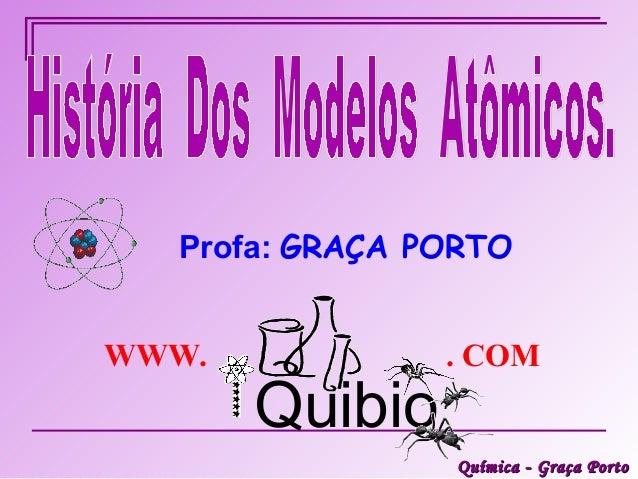 Profa: GRAÇA PORTOWWW.            . COM       Quibio                Química - Graça Porto