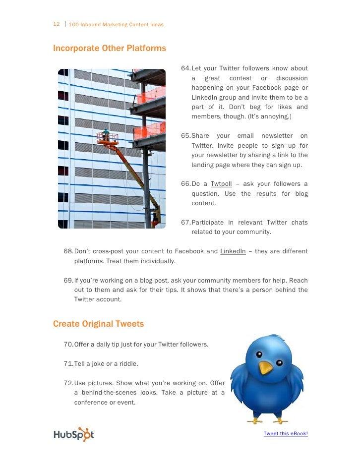100 inbound marketing content ideas pdf
