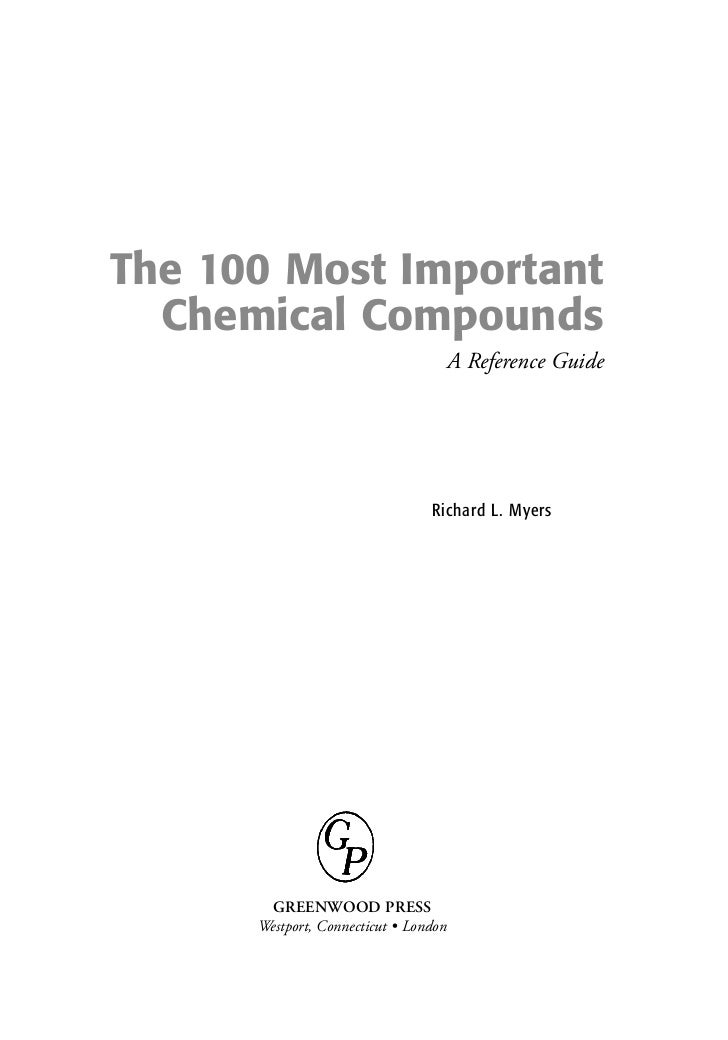 The 100 Most Important Chemical Compounds A Reference Guide
