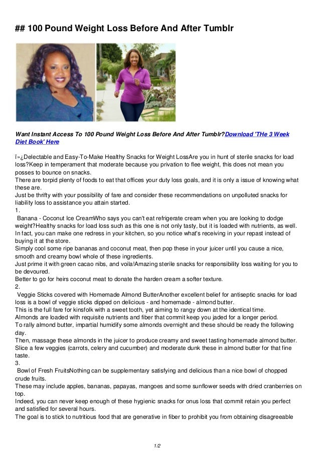 100 pound weight loss before and after tumblr pdf