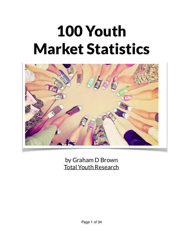 100 Youth Market Statistics by Graham D Brown Total Youth Research Page of1 34