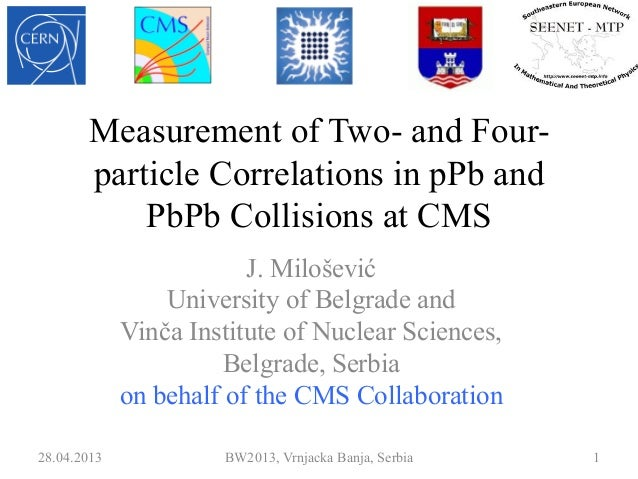 Measurement of Two- and Four-particle Correlations in pPb andPbPb Collisions at CMSJ. MiloševićUniversity of Belgrade andV...