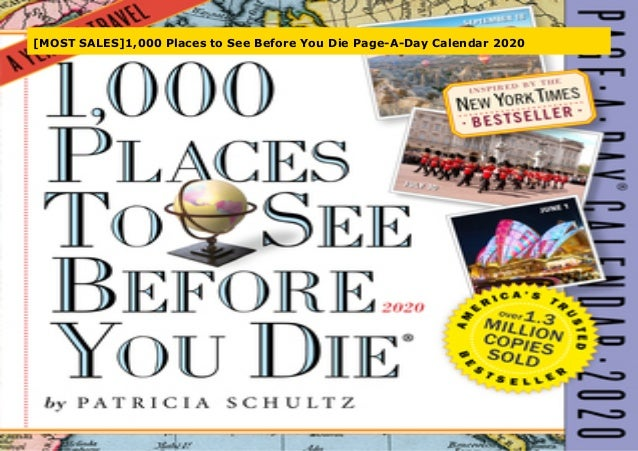 New York Times Bestseller List 2020.Most Sales 1 000 Places To See Before You Die Page A Day