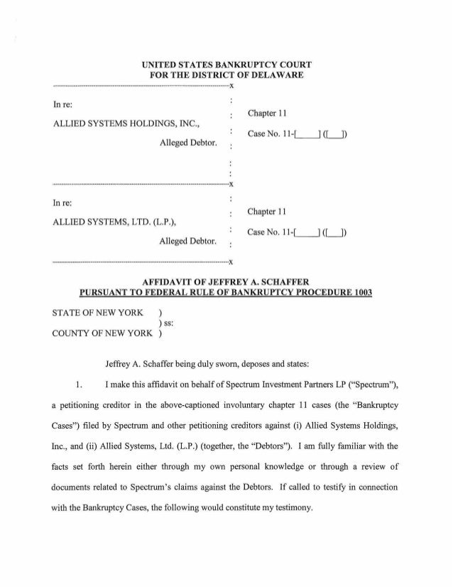 UNITED STATES BANKRUPTCY COURT                                              FOR THE DISTRICT OF DELAWARE·-----------------...