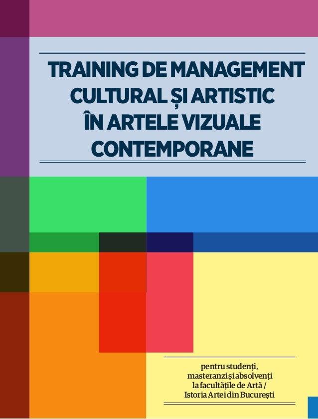 Training de management  cultural și artistic   în artele vizuale    contemporane                 pentru studenţi,         ...