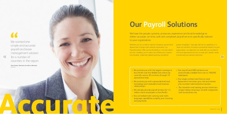 Our Payroll Solutions                                             We have the people, systems, processes, experience and l...