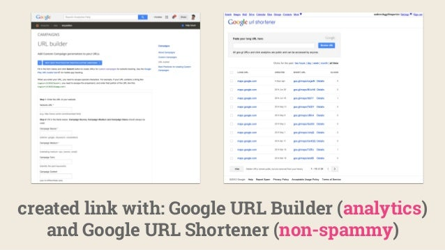 created link with: Google URL Builder (analytics) and Google URL Shortener (non-spammy)