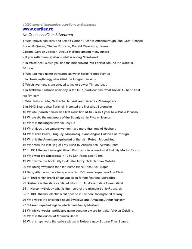 10000 quiz questions and answers – Mr Smith Goes to Washington Worksheet