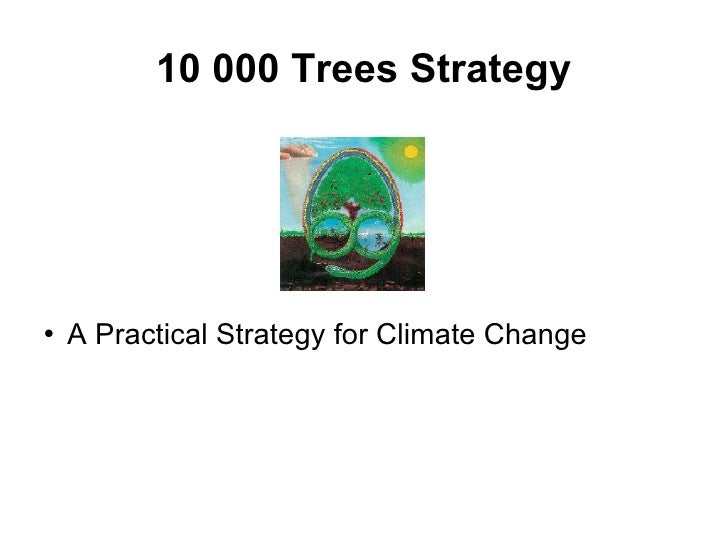 10 000 Trees Strategy <ul><li>A Practical Strategy for Climate Change </li></ul>