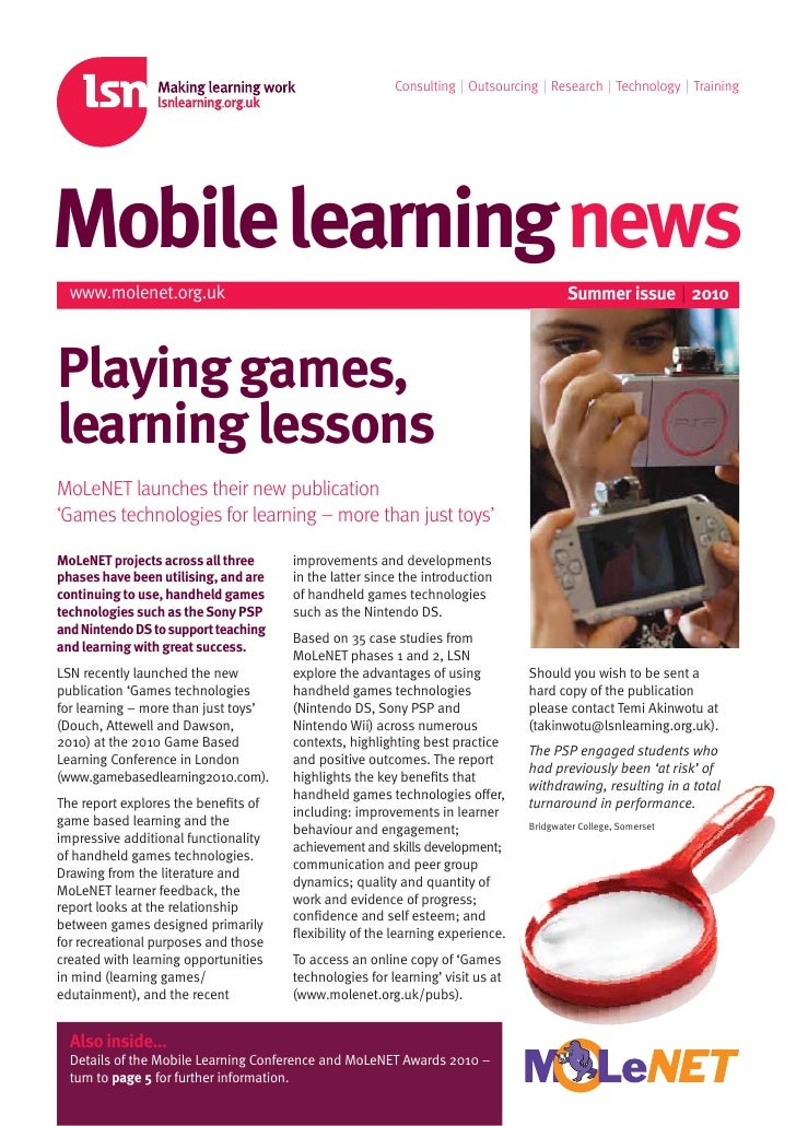 Consulting | Outsourcing | Research | Technology | Training     Mobilelearningnews   www.molenet.org.uk                   ...