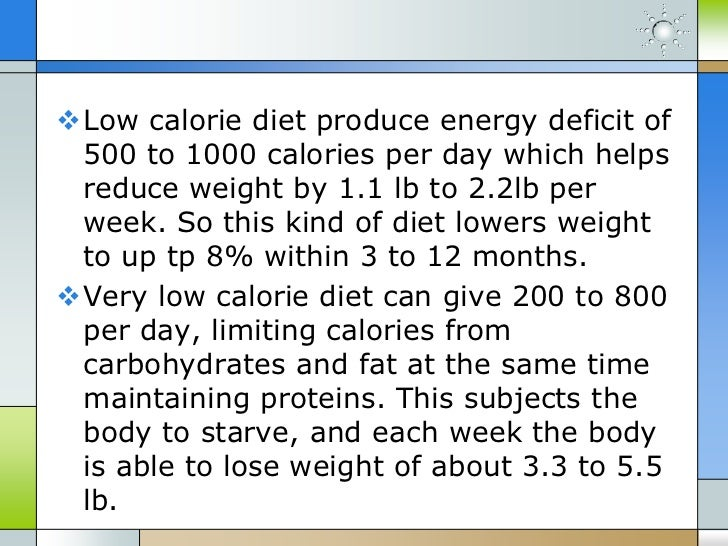 Calories Deficit Diet