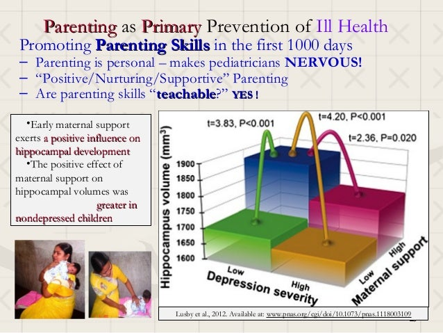 Parenting as Primary Prevention of Ill HealthPromoting Parenting Skills in the first 1000 days– Parenting is personal – ma...