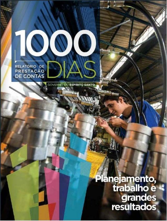 Relatório de Prestação de Contas - 1000 dias - Governo do Espírito Santo