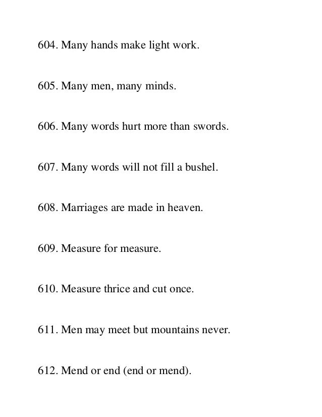 1000 English Proverbs And Sayings