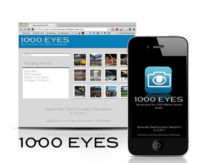1000 EYESSPREENKLER SEED INCUBATOR HACKATHON - FEB 12 2011