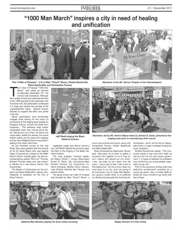 1000 Man March 11.19.11 News Article