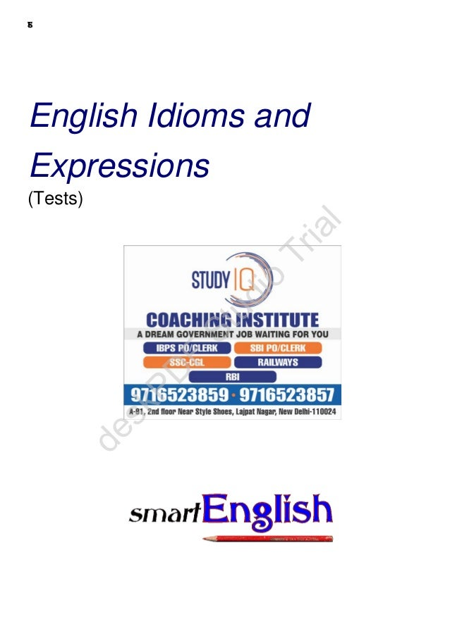 © 2003—2006 www.english-test.net TESTS English Idioms and Expressions (Tests) deskPD F Studio Trial