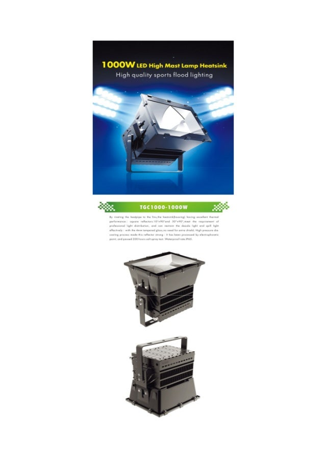 1000W  LED floodlight,  meanwell driver , Cree chip , 5 years warranty