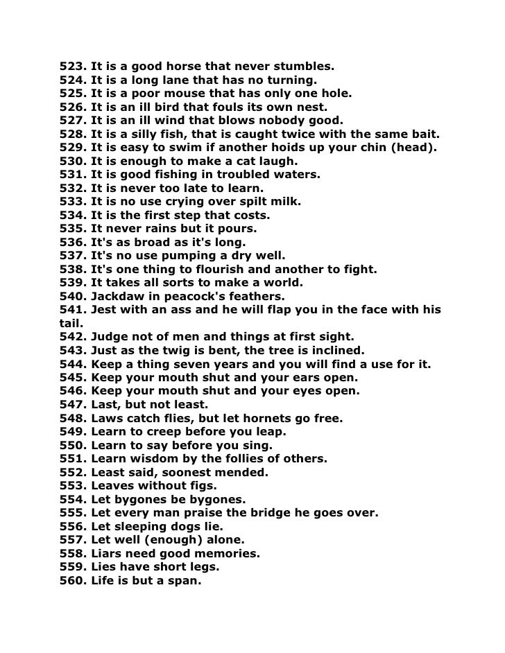 1000 proverbs and sayings Looking for some russian proverbs, sayings and idioms  you get 1,000+ audio/video  this russian proverb however is a lot more positive and it's meaning is .