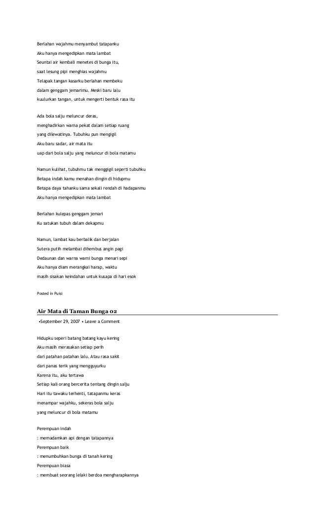 1000 Puisi Kehidupan Cikimm Com