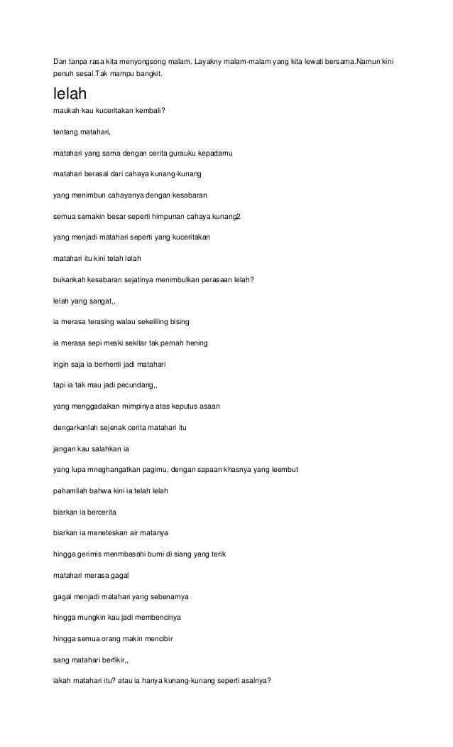 Pencipta Puisi Cahaya Kunang Kunang - Kumpulan Puisi