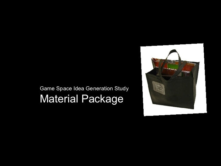 Game Space Idea Generation Study Material Package